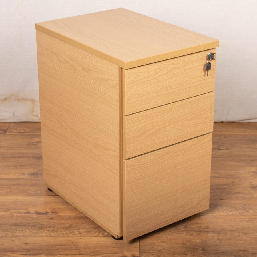 Light Oak Desk High Pedestal (PED61)