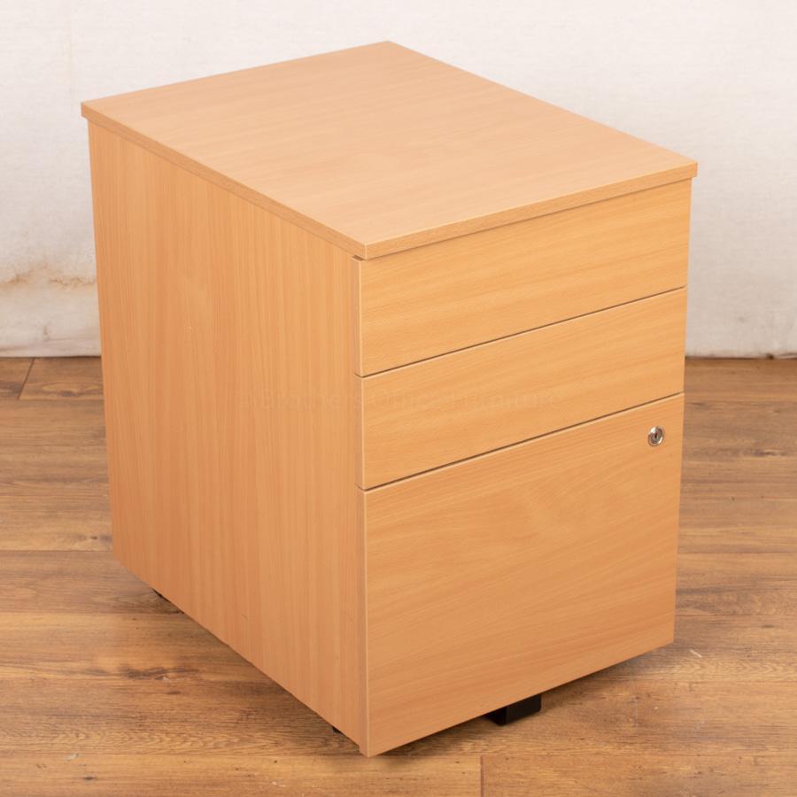 Beech Mobile Under Desk Pedestal (PED65)