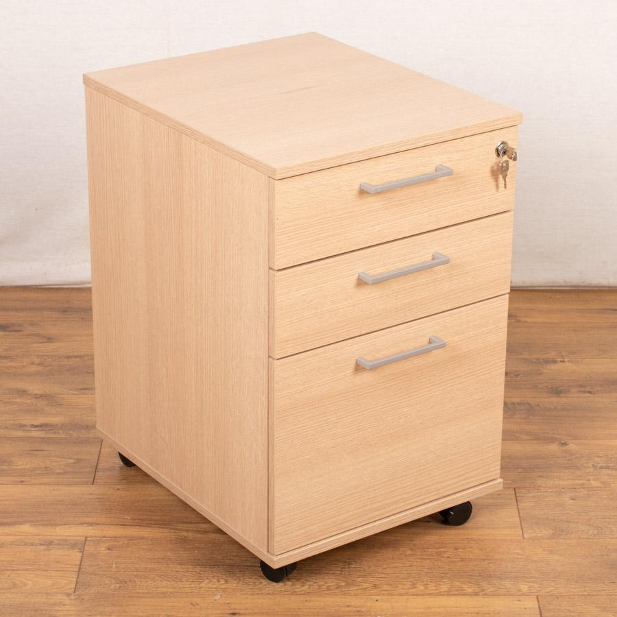 Pale Oak Mobile Office Pedestal (PED66)