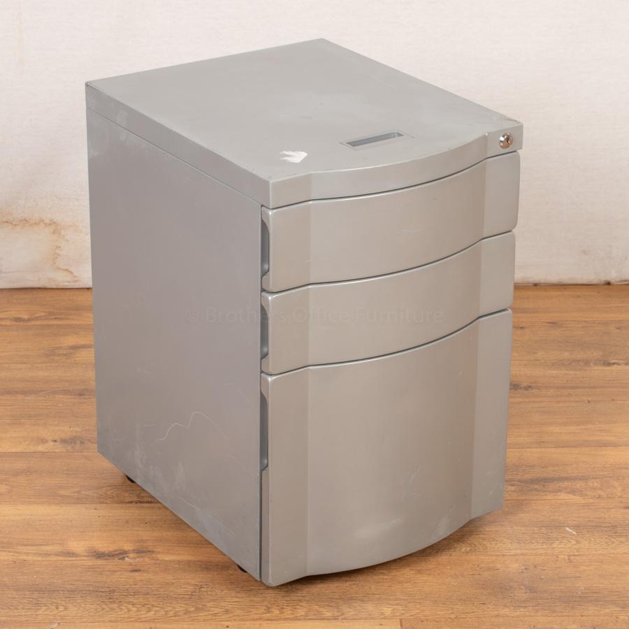 Silver Mobile Under Desk Pedestal (PED68)