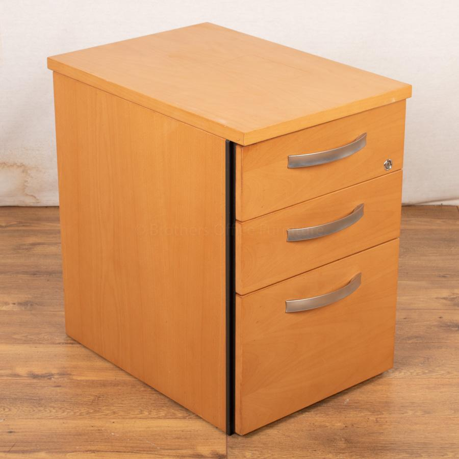 Beech Veneer Under Desk Pedestal (PED72)