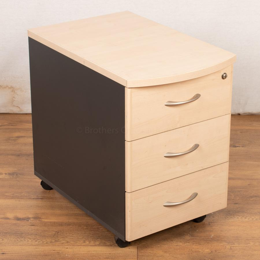 Maple Mobile Under Desk Pedestal (PED73)
