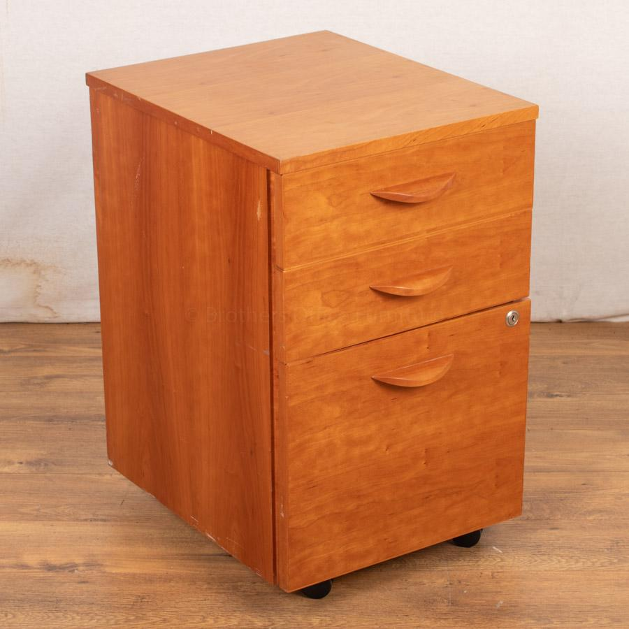 Cherry Veneer Under Desk Pedestal (PED74)