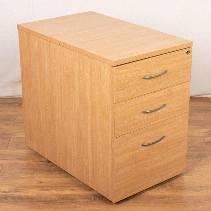 Limed Oak Desk High Pedestal (PED80)
