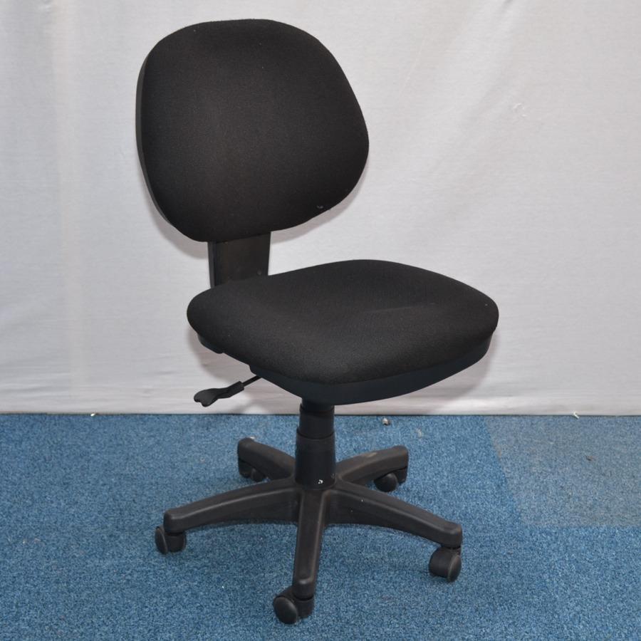 Single Lever Black Fabric Operators Chair