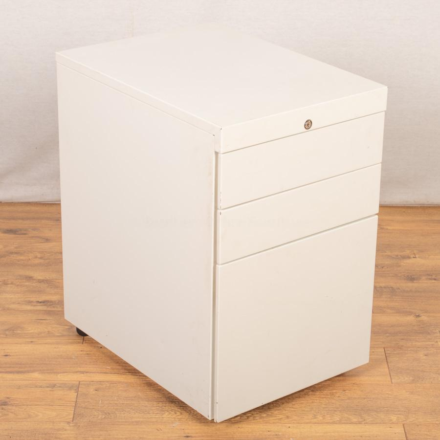 White Steel Under Desk Pedestal (PED87)