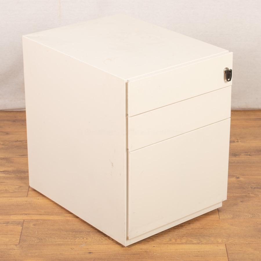 White Steel Under Desk Pedestal (PED91)