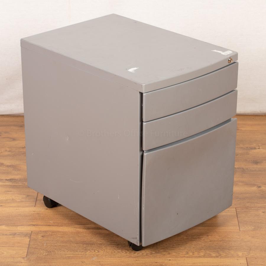 Silver Mobile Under Desk Pedestal (PED93)