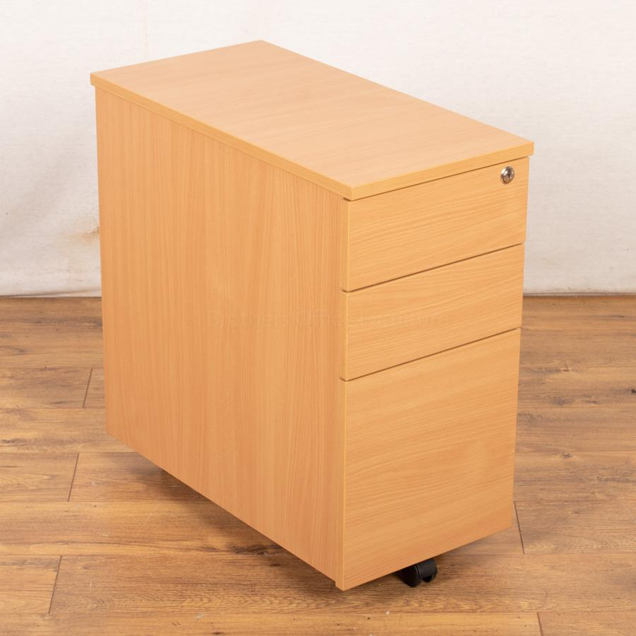 Beech Slimline Under Desk Pedestal (PED94)