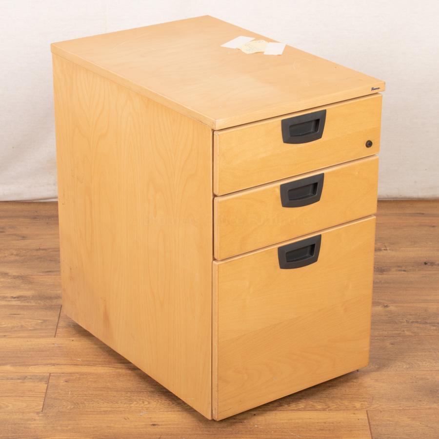 Kinnarps Maple Veneer Office Pedestal (PED95)