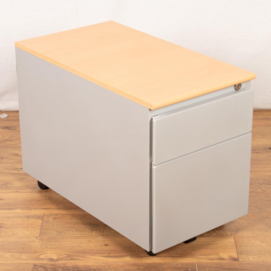 Steelcase Beech/Silver Under Desk Pedestal (PED96)