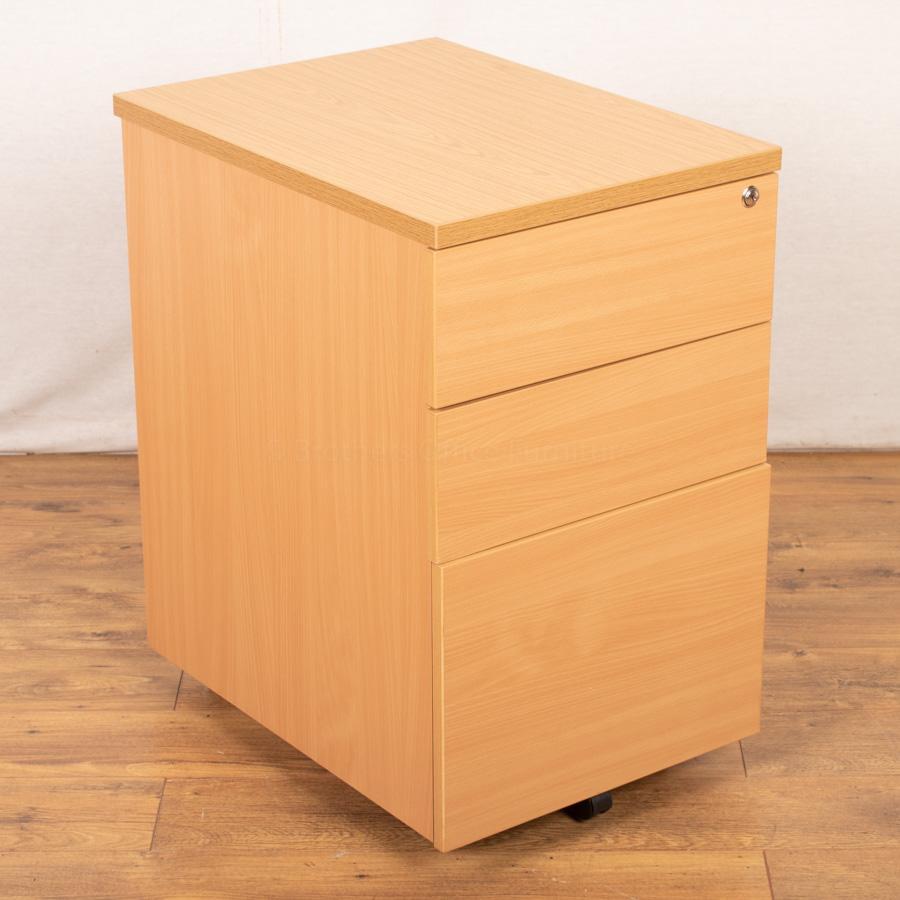 Beech/Oak Desk High Pedestal (PED101