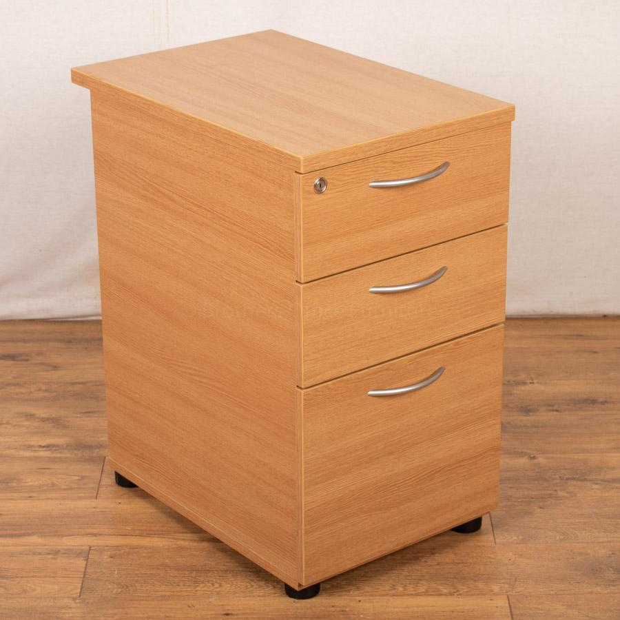 Light Oak Office Pedestal (PED104)