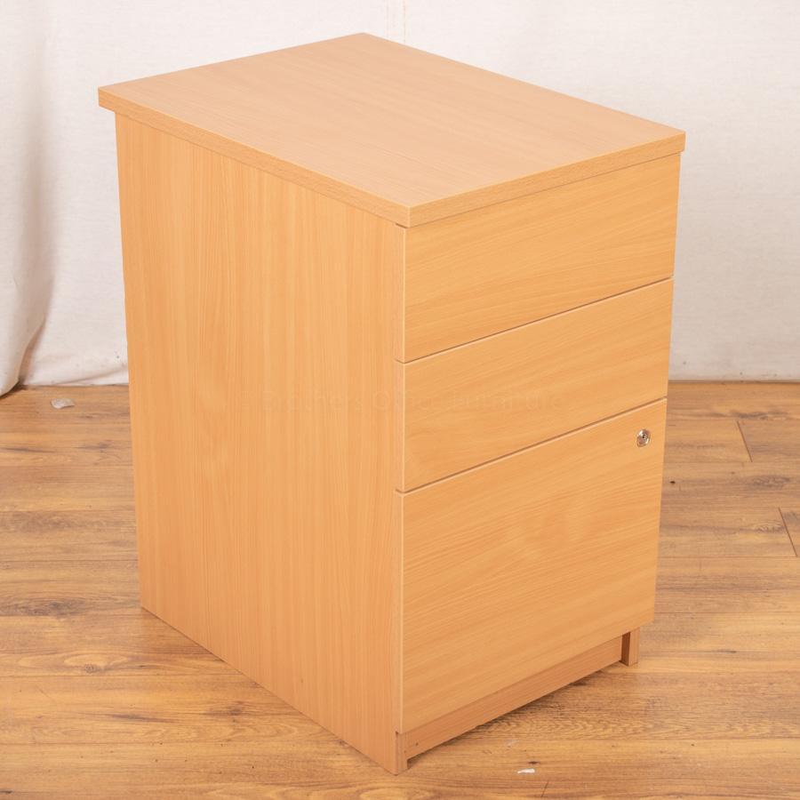Beech Desk High Pedestal (PED109)