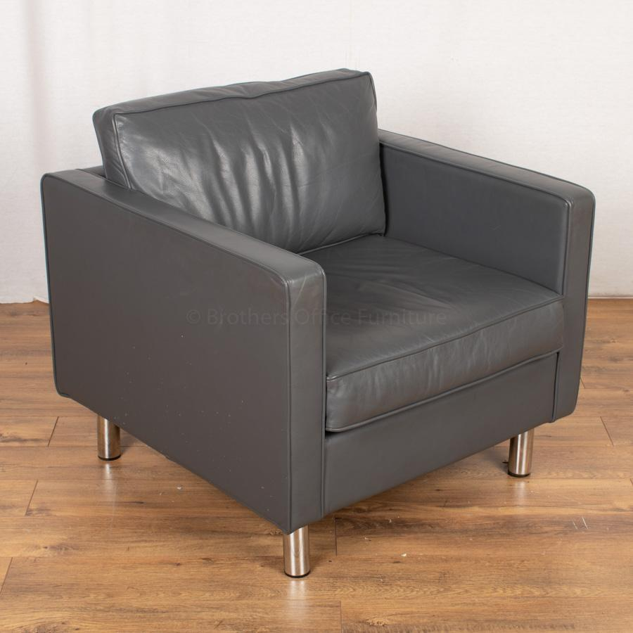 Orangebox Ogmore Leather Arm Chair