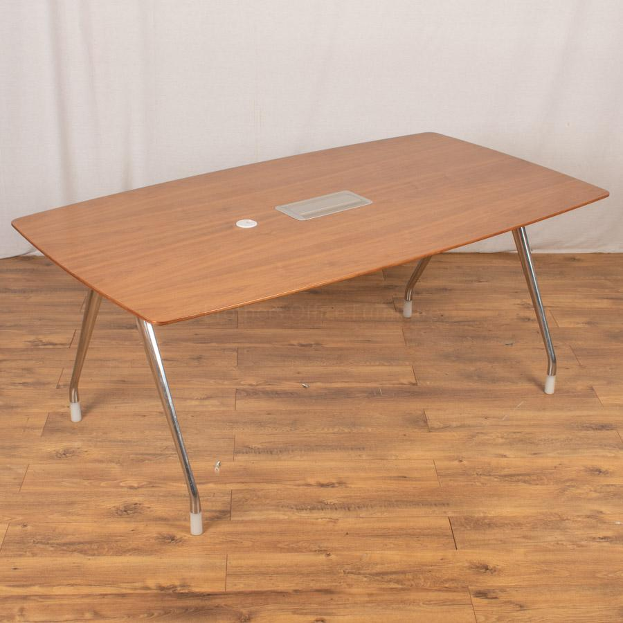 Herman Miller Walnut Veneer 1800x1000 Meeting Tabl