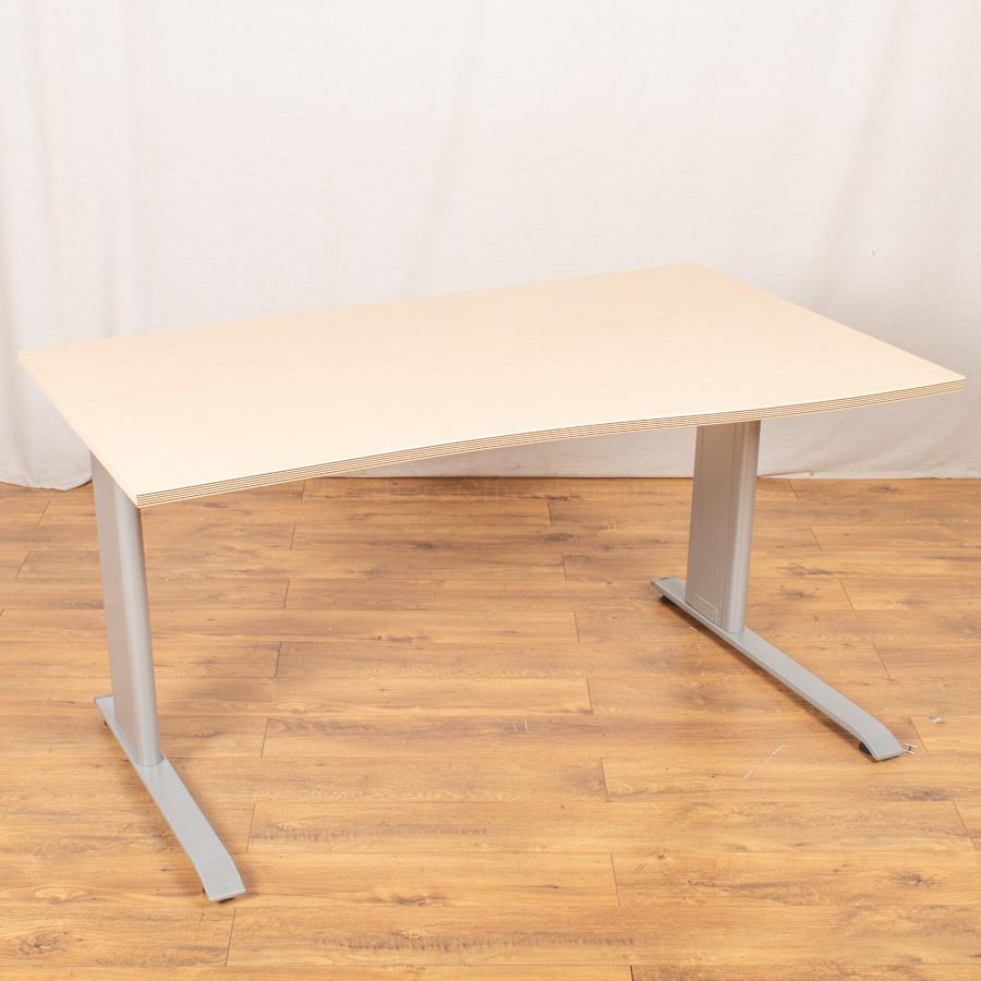 Bene Maple Wave Desk & Roneo Pedestal
