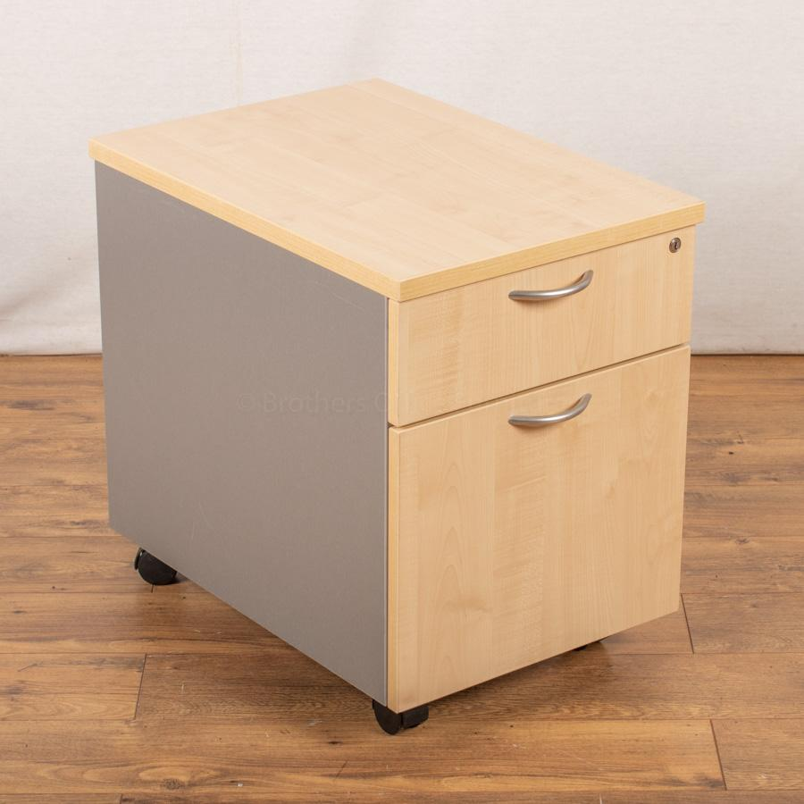 Maple Under Desk Office Pedestal (PED111)