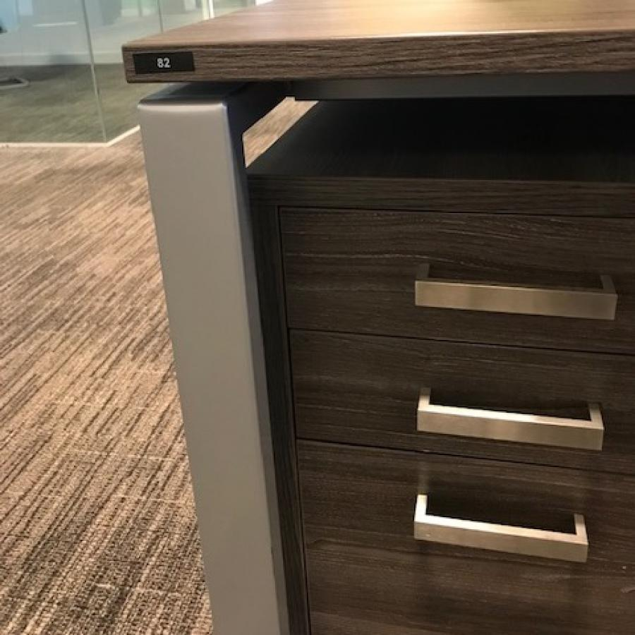 Walnut 1400 Bench Desks