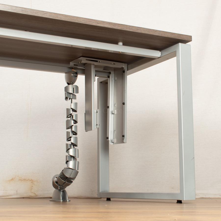 Walnut 1600 Bench Desks   Single