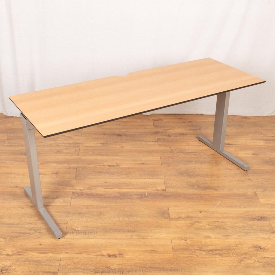 Techo Beech 1600x600 Straight Desk