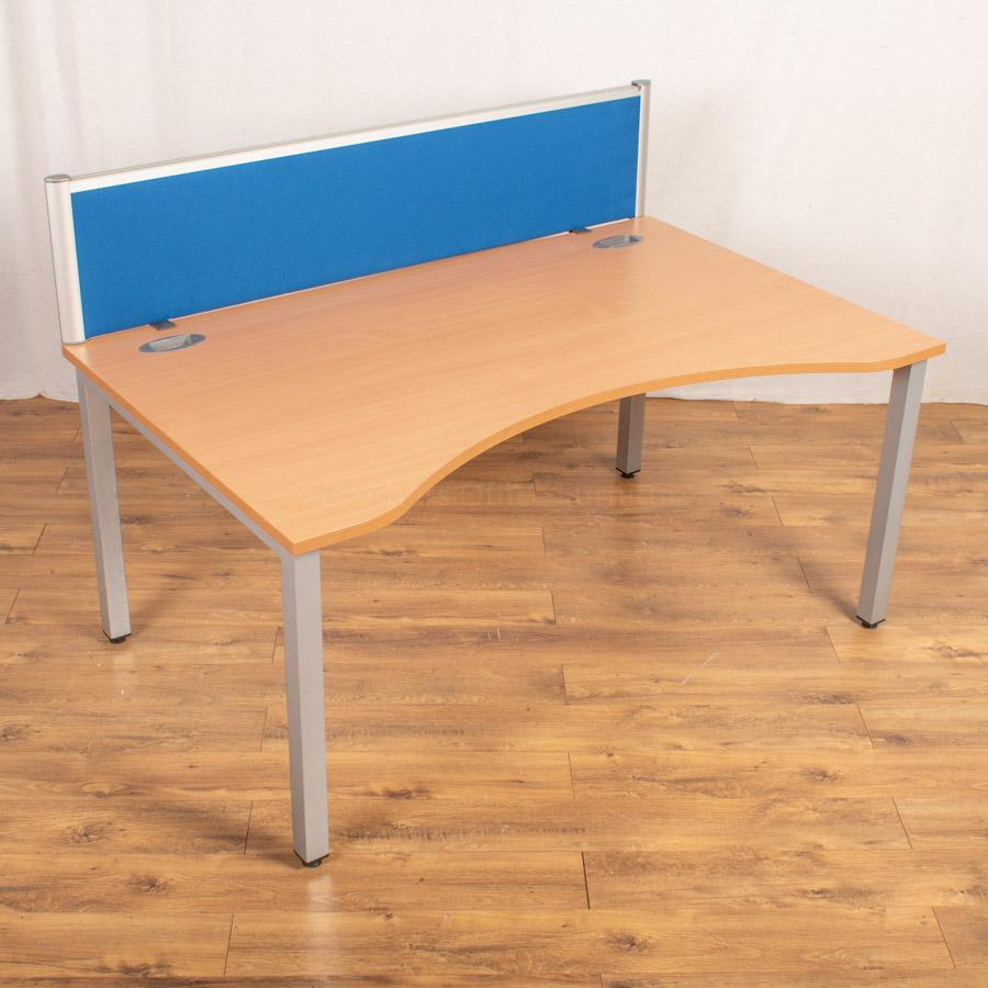 Beech 1600 Double Wave Bench Desks | Single