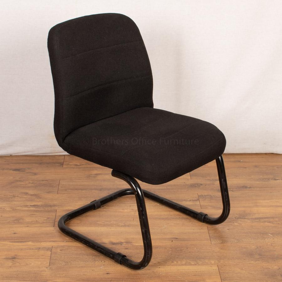 Black Cantilever Reception/Waiting Room Chair