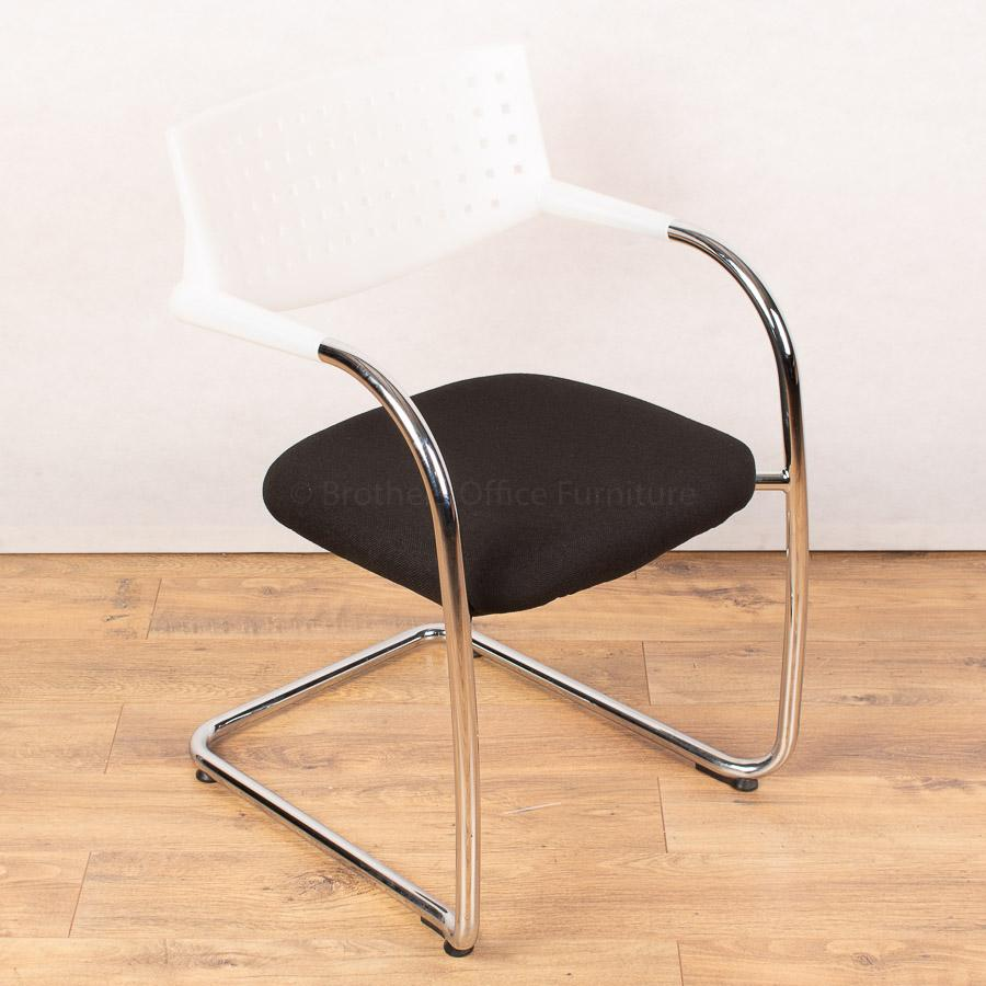 Vitra Vis-a-Vis White Back Stacking Chair