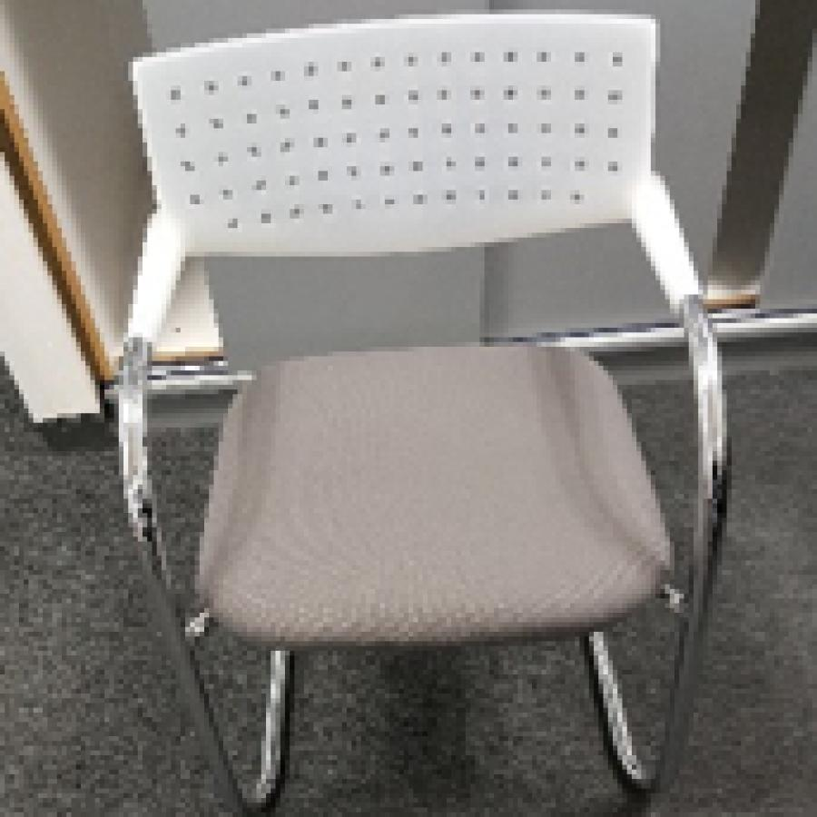 Vitra Vis-a-Vis White Back Meeting Chair