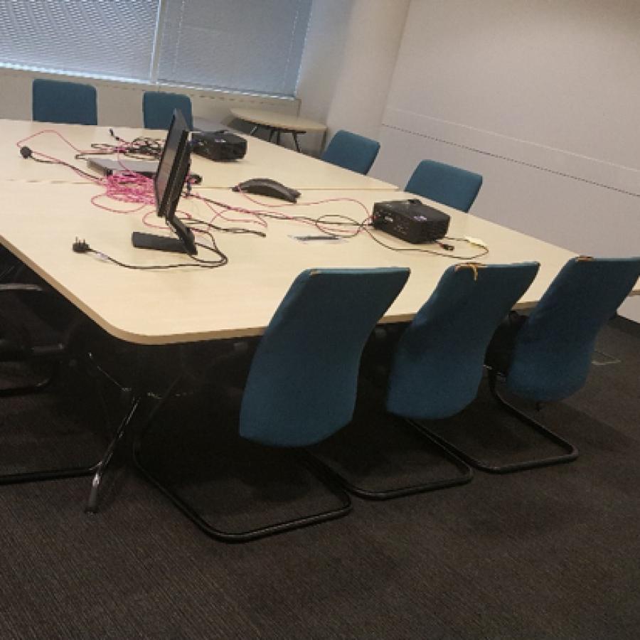 Vitra Ad Hoc Maple 2600x1500 Meeting Table