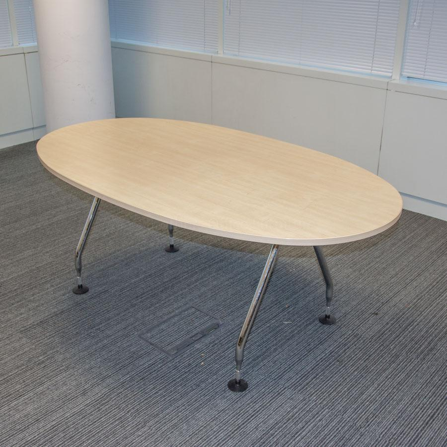 Vitra Ad Hoc Maple 1800x1000 Meeting Table
