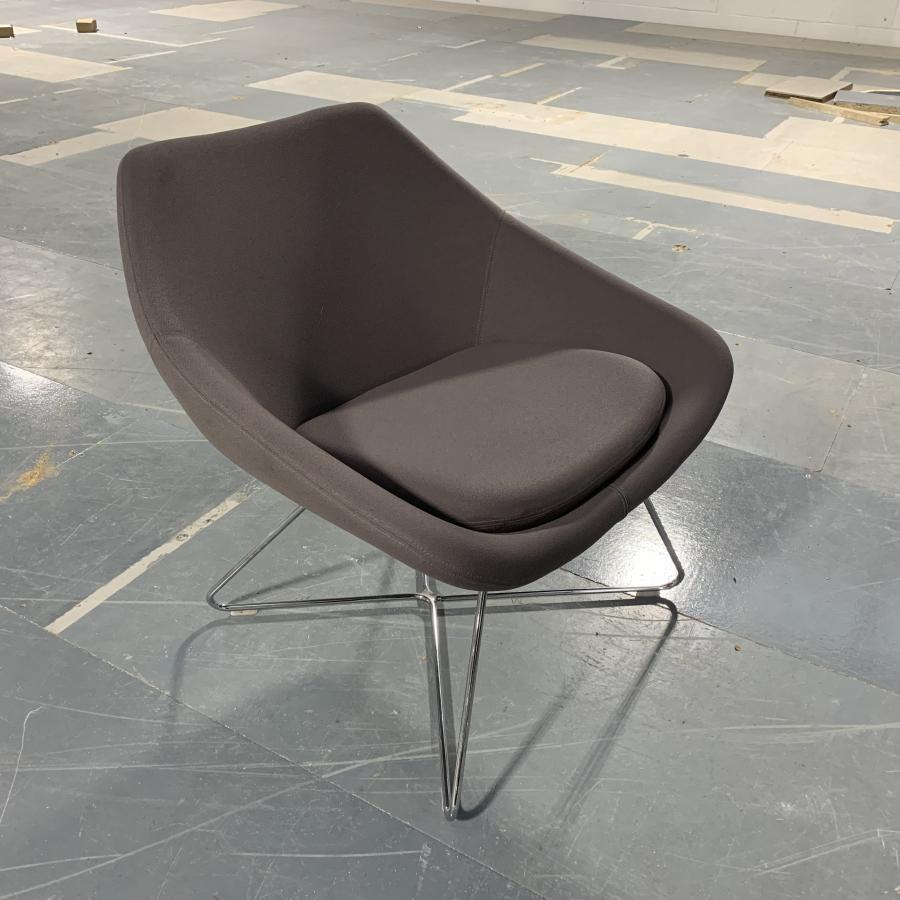 Allermuir Open Grey Reception Breakout Chair
