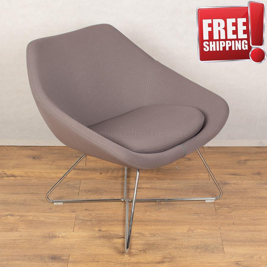 Allermuir Open Grey Reception Breakout Chair