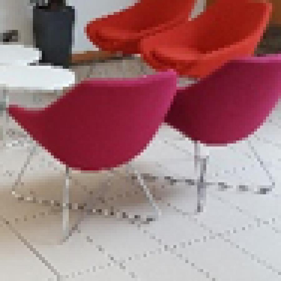 Allermuir Pink Fabric Reception Breakout Chair