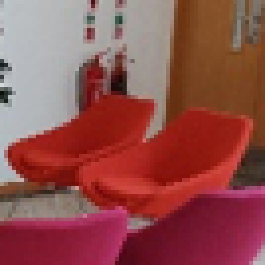 Allermuir Orange Fabric Reception Breakout Chair