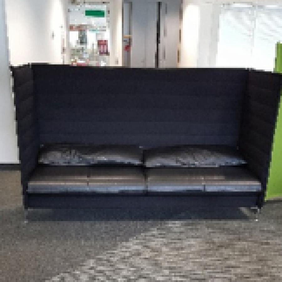 Black Leather Seating Booth