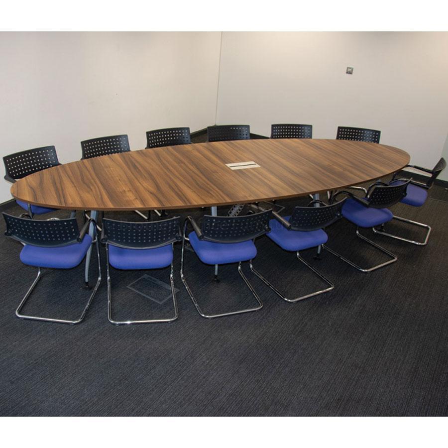 Walnut 4000x1400 Boardroom Table