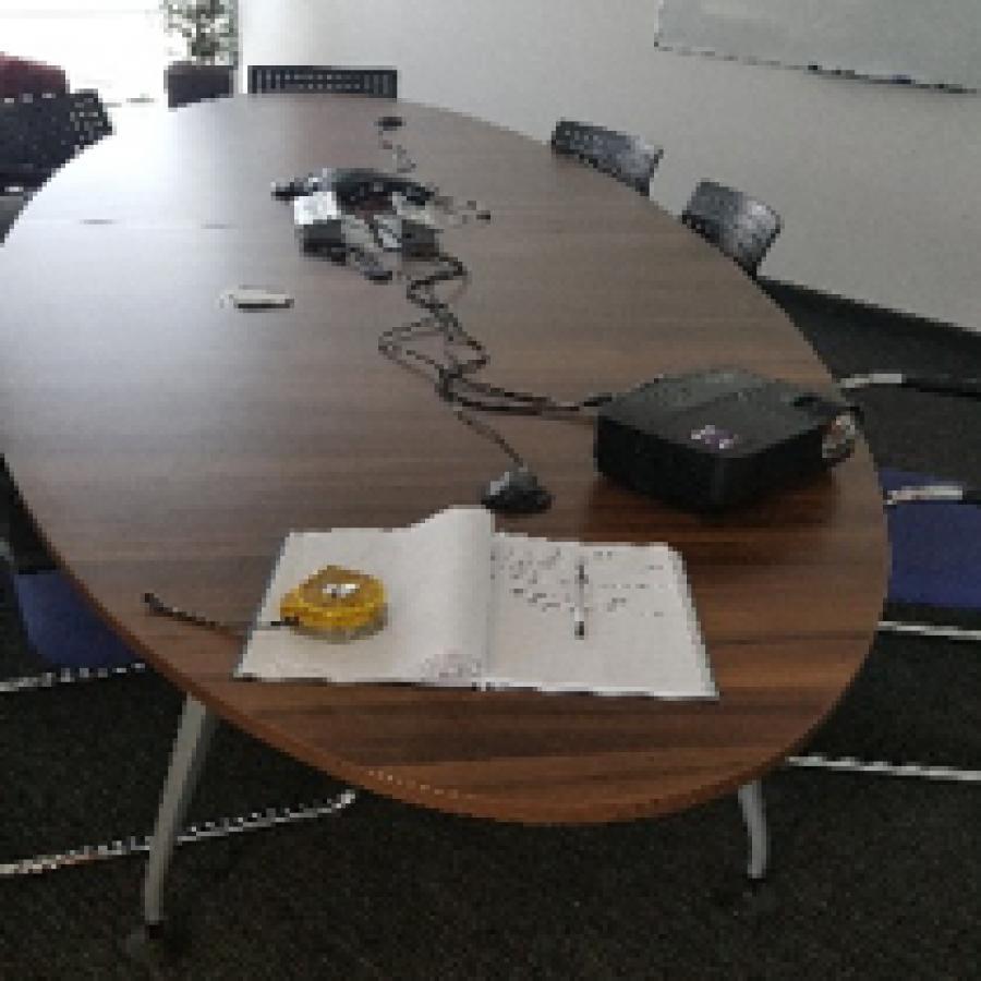 Walnut Veneer 4000x1400 Boardroom Table