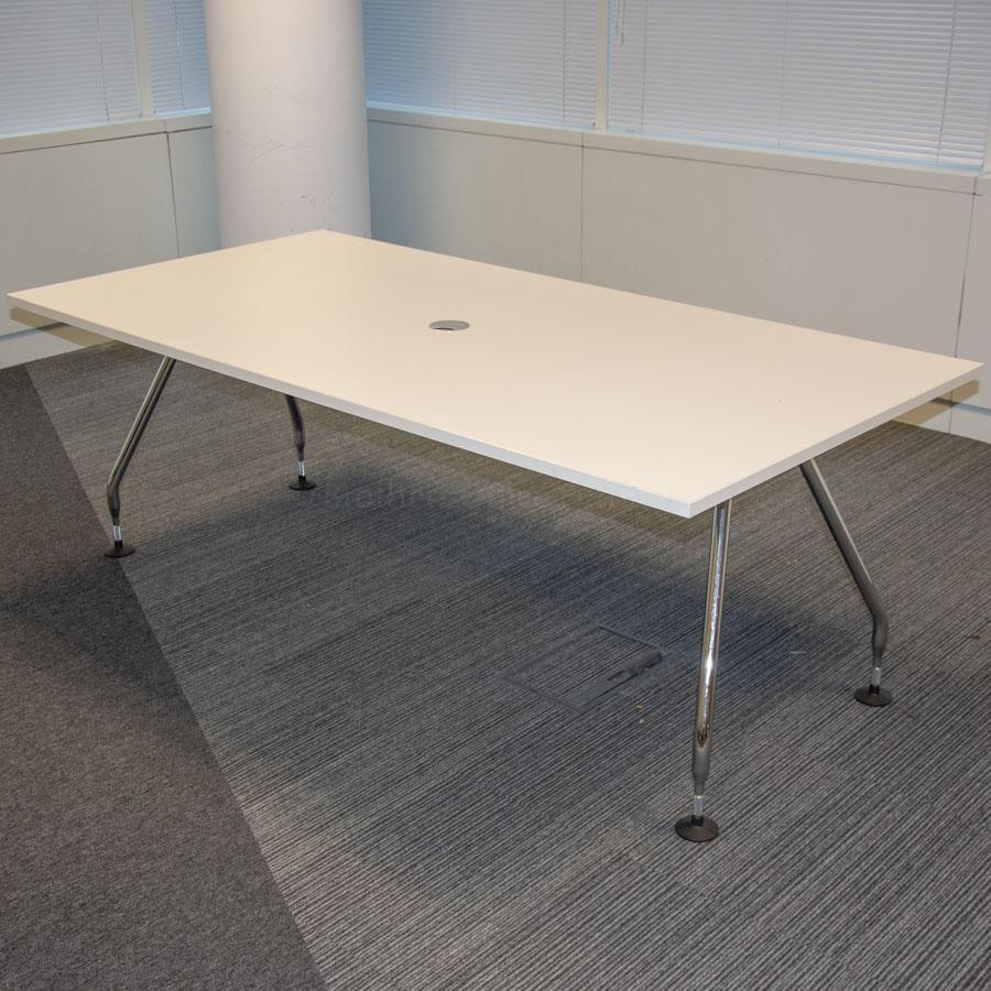 Vitra Ad Hoc White 2000x1000 Meeting Table