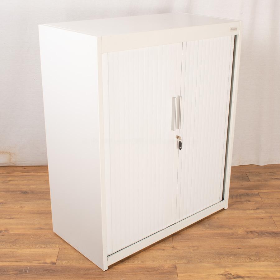 Flexiform White 1200H Tambour Cupboard