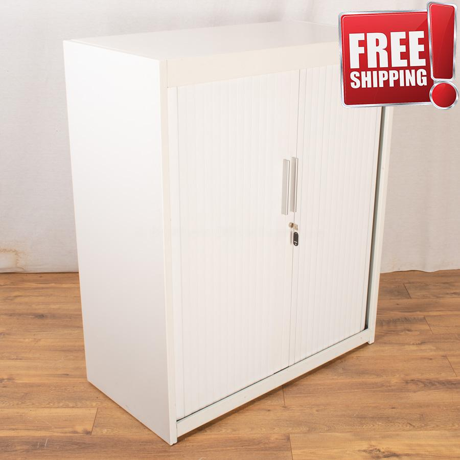 Flexiform White 1200H Tambour Cupboard