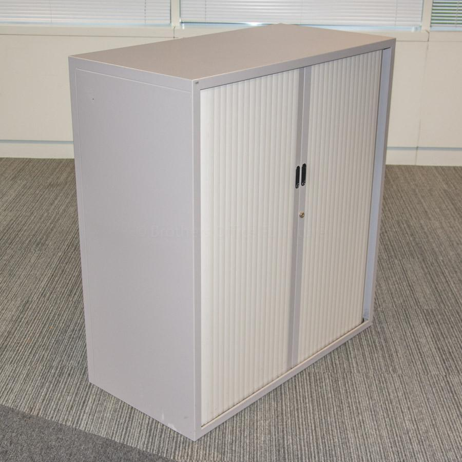 Light Grey 1100H Tambour Cupboard with Top