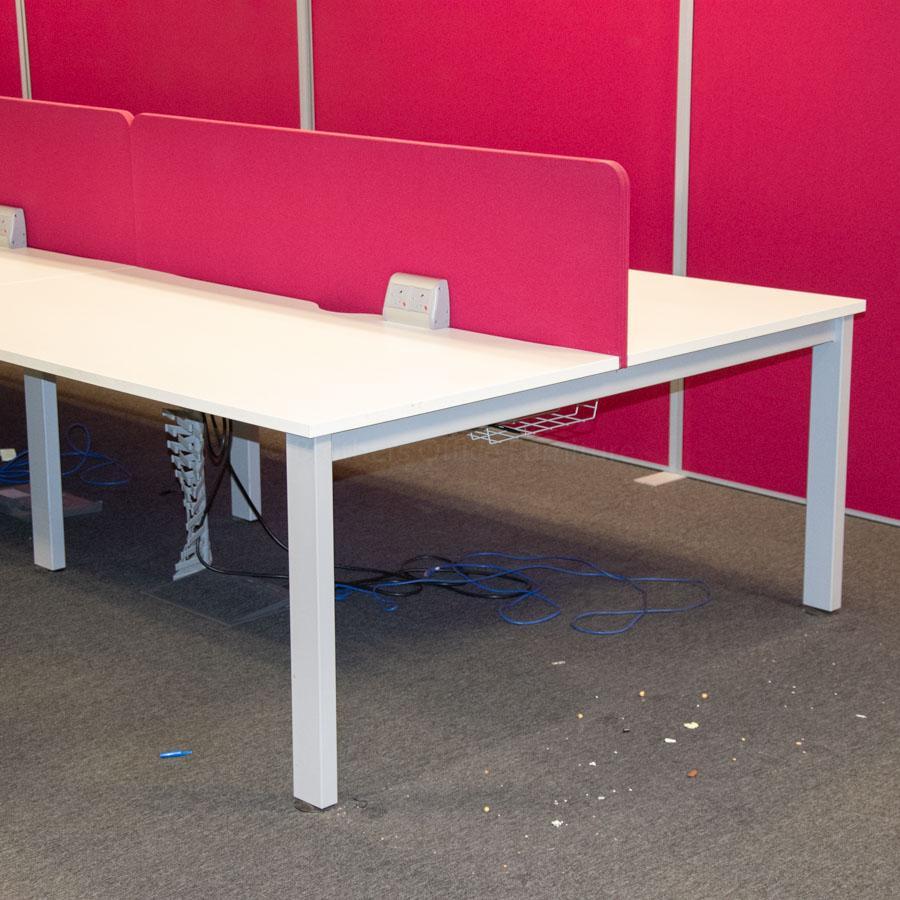 Senator Freeway White 1600W Bench Desks