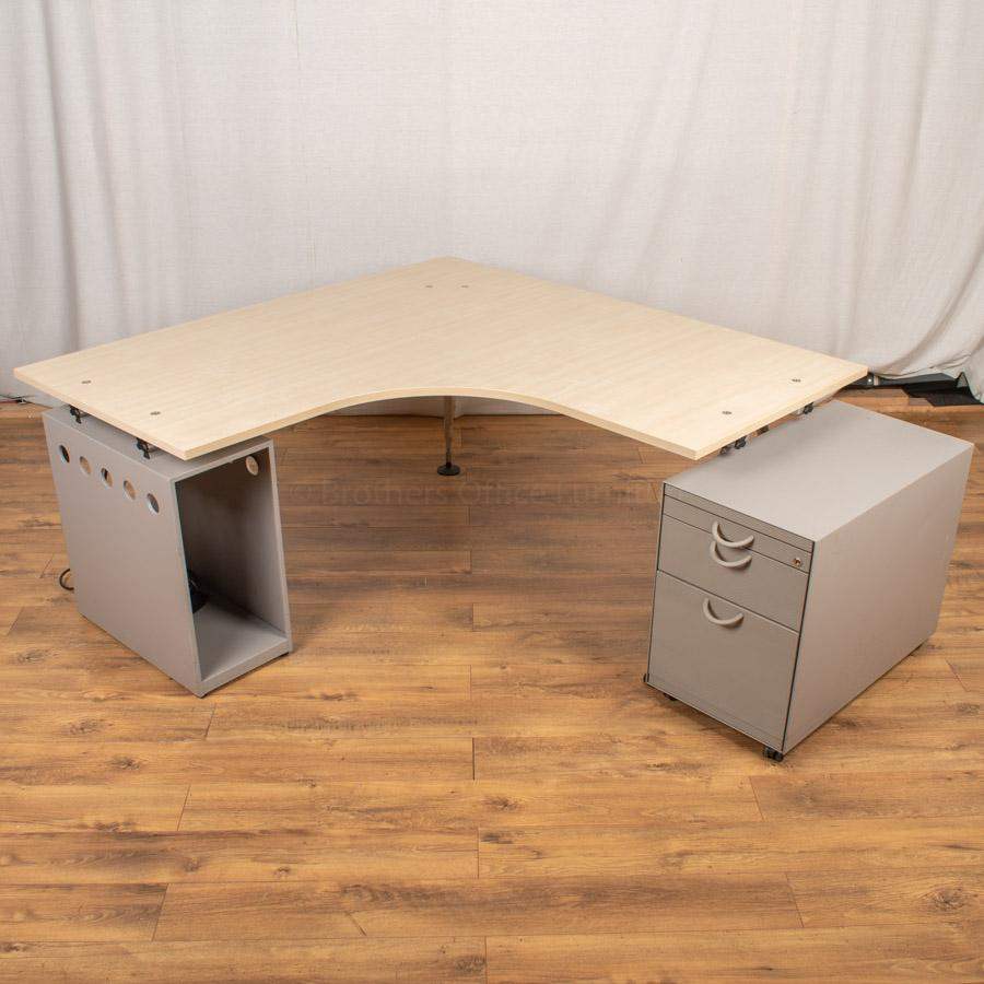 Vitra Ad Hoc Maple 1600 Corner Workstation (CW98)