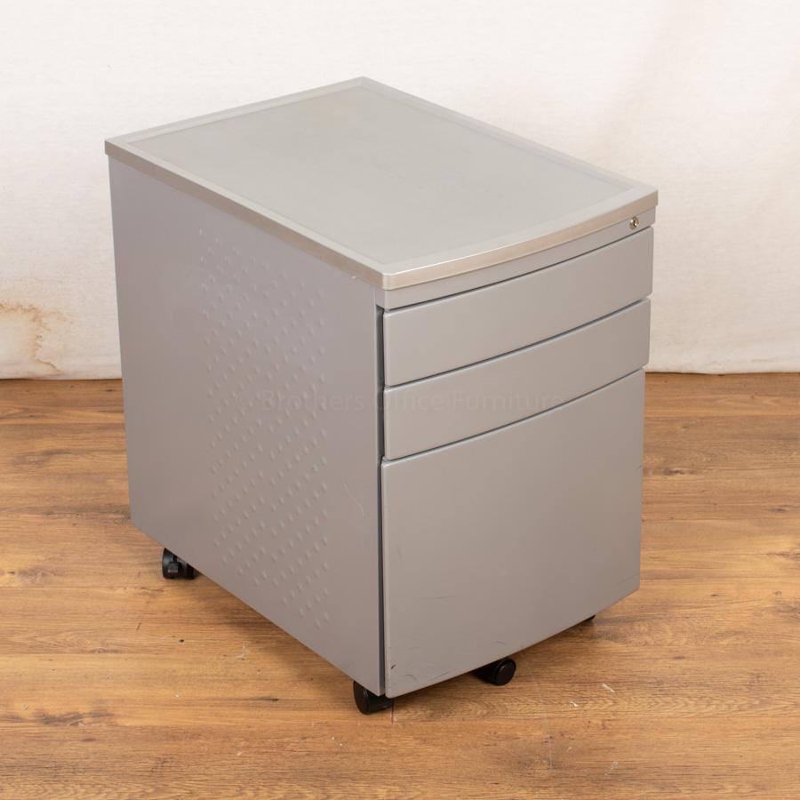 Silver Under Desk Pedestal (PED113)