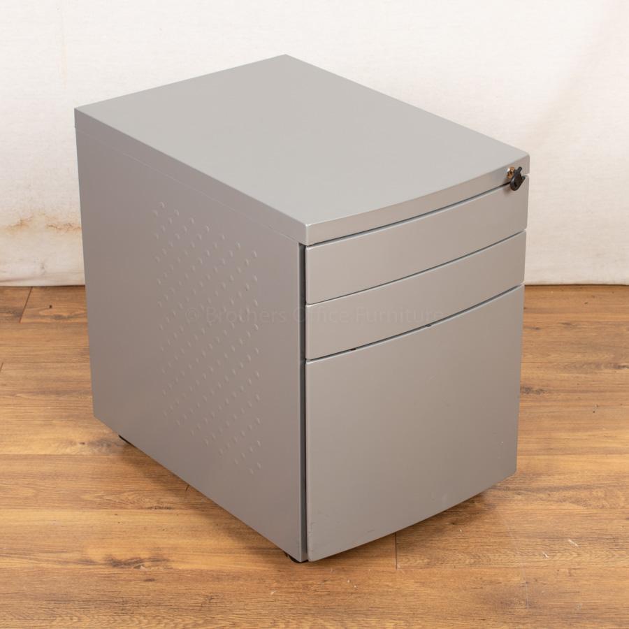 Silver Under Desk Pedestal (PED114)