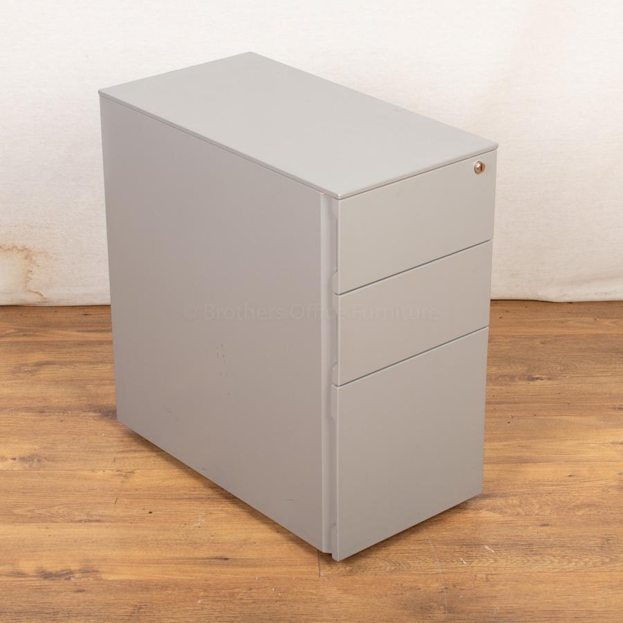 Silver Slimline Under Desk Pedestal (PED115)