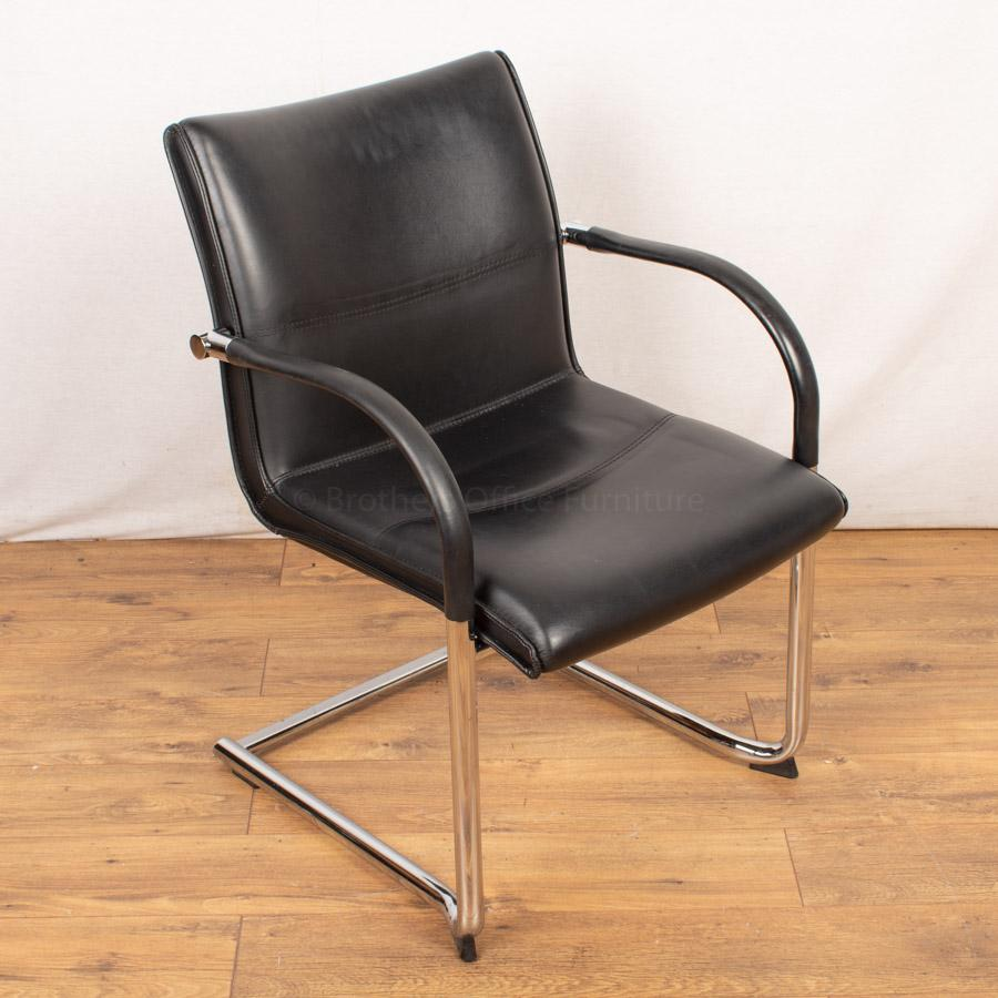 Kusch Black Leather Meeting Chair