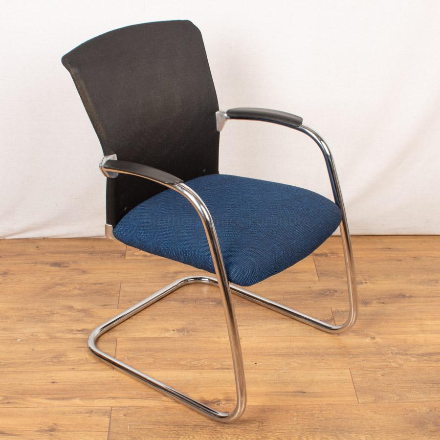 Sedus Mesh Back Chrome Meeting Chair