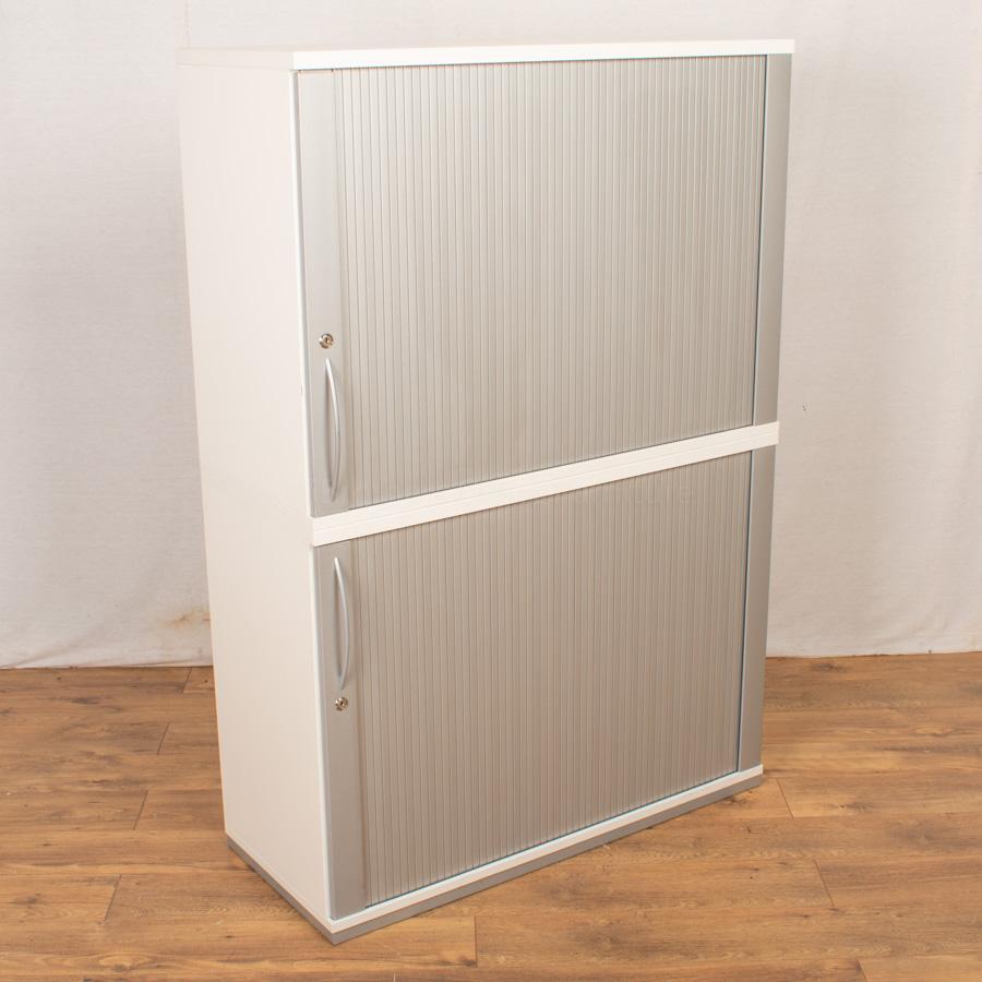 K&N White 1470H Tambour Cupboard